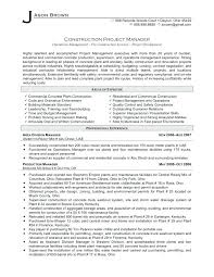 Architectural Project Manager Resume Construction Project Manager ...