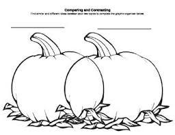 Dia De Los Muertos And Halloween Venn Diagram Compare Contrast Pumpkin Shaped Venn Diagram For Fall