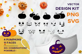Welcome svg wedding welcome sign svg welcome sign svg home svg png dxf cutting files cricut funny cute svg designs quote svg hello, welcome to my store of digital designs, ideal for your gifts and business. Halloween Pumpkin Mask Design Kit Svg Graphic By Inkclouddesign Creative Fabrica