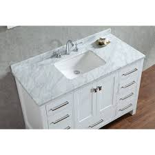 single white bathroom vanities. Vincent 48\ Single White Bathroom Vanities W