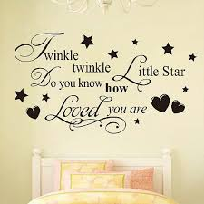 twinkle twinkle little star home decoration wall art decals quote baby girl bedroom kids room decor vinyl wall stickers in wall stickers from home garden  on baby girl wall art quotes with twinkle twinkle little star home decoration wall art decals quote
