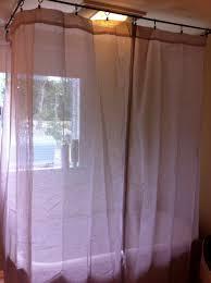 diy shower curtain rod for clawfoot tub