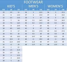 vibram size chart product details