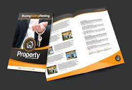 a3 real estate brochure template brandpacks real estate template