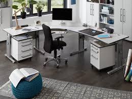 germania profi corner desk in matt light grey with dark grey details 2