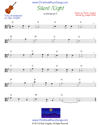 The beginner version of silent night for piano features the melody in the treble clef staff. Silent Night For Viola Free Sheet Music