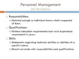 Personnel Management Job Description Personnel Management In Interior Design Michelle Egan Ppt