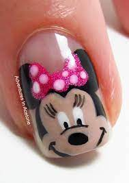 Disney Minnie Mouse nail art!! Can't wait to do for my next trip to the  happiest place on earth :))) | Minnie mouse nail art, Minnie mouse nails, Mickey  nails