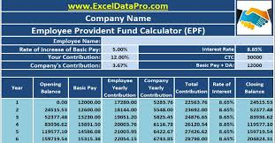 Salary Calculator In Excel Free Download Download Employee Provident Fund Calculator Excel Template