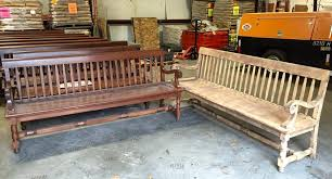 wooden bench restoration before after soda blasting