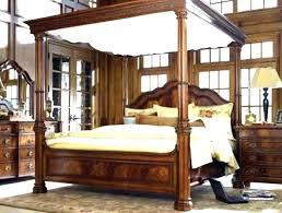 King Size Bed Frame Black Wood Canopy Metal – earthwalkersmag.com