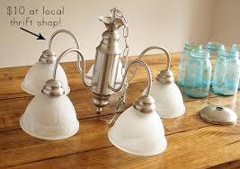 thrift chandelier update