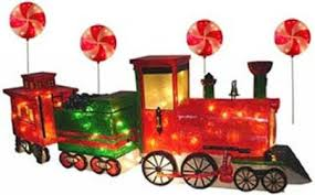 santa train outdoor christmas decoration
