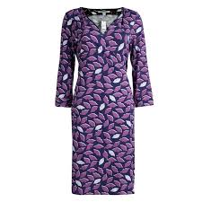 Diane Von Furstenberg Purple Lip Print Jersey New Julian Two Wrap Dress L
