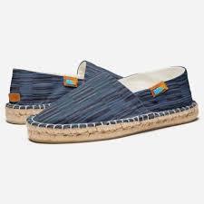 Shades of <b>Blue Stylish</b> Striped <b>Pattern</b> Espadrilles | Zazzle.com ...