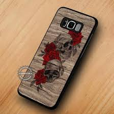 phone cover skull flowers wood red rose samsung galaxy cases samsung galaxy s8 plus case samsung