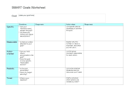 Free Personal Goal Setting Template Planning Worksheets For