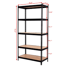 metal storage shelves. costway 72\u0027\u0027 5 level heavy duty shelf garage steel metal storage rack adjustable shelves a