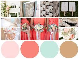Coral Color Combinations Blush Coral Robins Egg Blue Brown Wedding Color Palette