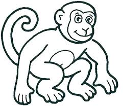 Monkey Color Page Coloring Pages For Kids Monkey Printable 5 Little