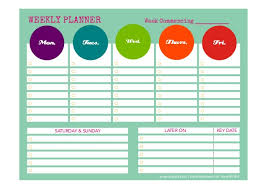 39 Weekly Planner Template Schedule Planners