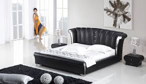 Black modern bedroom sets Luxury Contemporary Bedroom Comfort Black Modern Bedroom Sets King With Black Fur Rug And Cute Black Table Lamps Adserverhome Bedroom Modern Wood Bedroom Sets King With White Bed And Wooden
