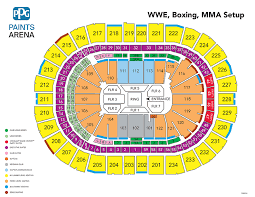 Wwe Live Seating Chart Wwe Raw Live Ppg Paints Arena