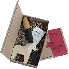 mora dala horse woodcarving kit carving tool with wooden horse in gift box