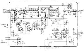 schematic diagram of boss ce 2b bass chorus pedal