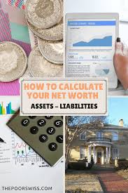 How To Calculate Your Net Worth The Poor Swiss