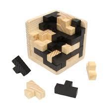 wooden intelligence game 3d wood iq puzzle brain teaser magic tetris cube 54 pc com
