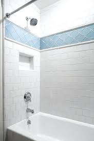 tile around tub shower combo tub shower combo tiled in white square tiles with a tiled tile around tub shower