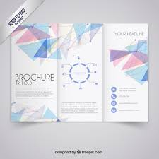 Pamphlet Template Free Brochure Template In Geometric Style Vector Free Download