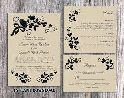 Invitation Template For Word Simple Editable Rustic Wedding Invitation Templates Free Download Word Best