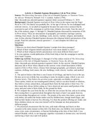 autobiography of olaudah equiano essay olaudah equiano remembers life in west africa source background