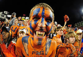 sports fan face paint. a fan of the auburn tigers celebrates after game against florida gators at jordan sports face paint c