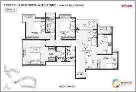bhartiya city nikoo homes phase 2 1761 sq ft