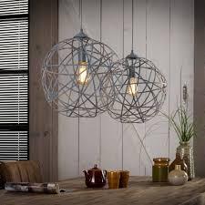 Industriële Hanglamp De Landelijke Hanglamp Yukon 2lichts Staal