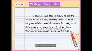 learn english writing writing a diary