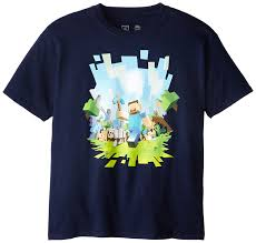 Minecraft - Boys Adventure Youth T-shirt: Amazon.co.uk: Clothing