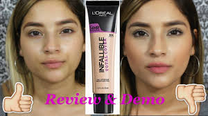 loreal never fail makeup new l oreal infallible total cover foundation l review demo l new