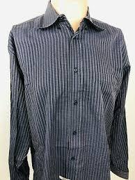 Bugatchi Size Chart New With Tag Bugatchi Uomo Classic Fit Striped Dress Shirt
