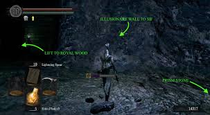 loot the white titanite slab on the way to the boss and then defeat m be sure to equip and use the silver pendant against his spells