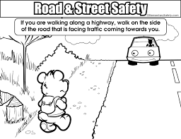 Small Picture Coloring Road Street Safety