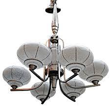 antique french art deco chandelier
