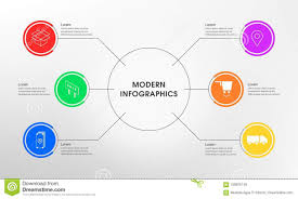 Simple Info Graphics Simple Infographics 6 Option Stock Image Illustration Of Sign