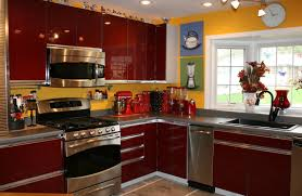 Red Birch Cabinets Kitchen Red And Grey Kitchen Ideas Kitchen Ideas Grey Cabinet Red