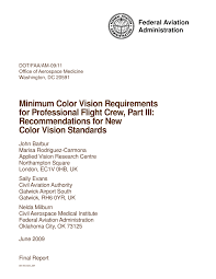 Faa Medical Eye Chart Pdf Minimum Color Vision Requirements For Professional