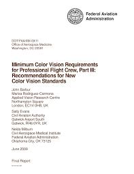 Pdf Minimum Color Vision Requirements For Professional