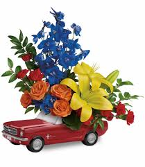 living the dream 65 ford mustang by teleflora